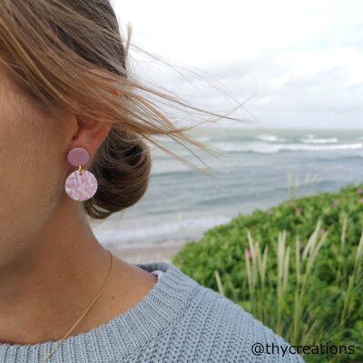 Smukke håndlavede øreringe fremstillet i Thy