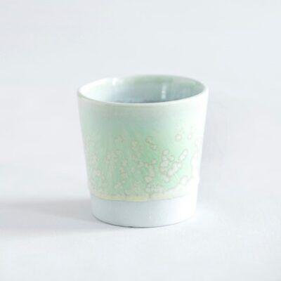 espressokop krus grøn håndlavet keramik Lena Pedersen porcelæn København