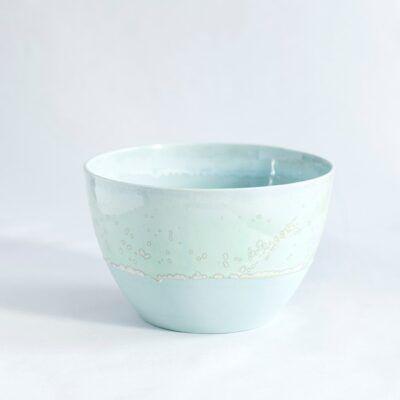 skål i mellem høj grøn håndlavet keramik København Lena Pedersen porcelæn