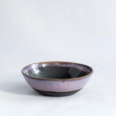 skål morgenmadsskål i lyserød sort håndlavet keramik Lena Pedersen porcelæn København