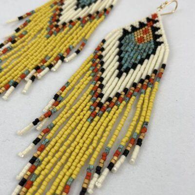 Store native inspireret statement øreringe