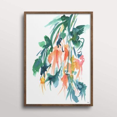 Kunstplakat med akvarel